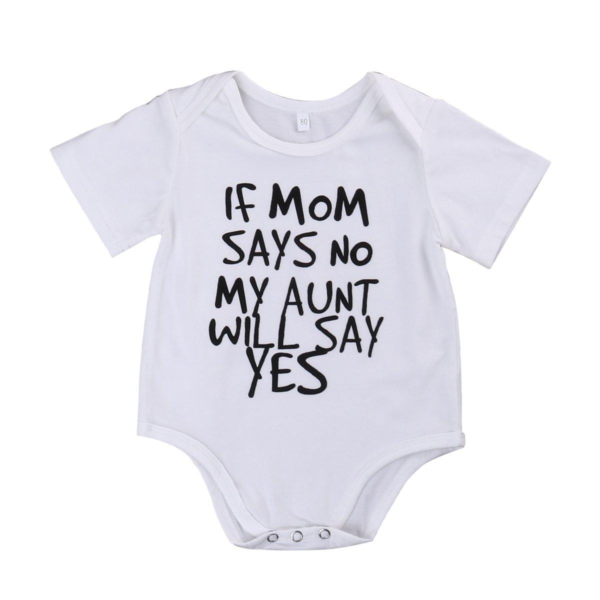 Newborn Infant Baby Boys Girls Cotton Bodysuit Romper Jumpsuit Clothes Outfit
