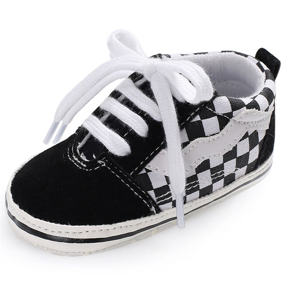 Fire Frog FireFrog Baby Boys Sneakers Lace up Classic British Prewalker Crib Shoes