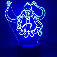 Assassination Classroom Korosensei 3D Illusion Night Light 3D Optical Illusion Lamp 16 Colours Changing Acrylic LED…