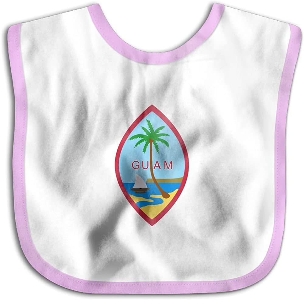 Marima Coat of Arms of Guam Personalized Scarf Bib Feeding /& Teething Fancy Baby Bibs and Burp Cloth Polyester Cotton