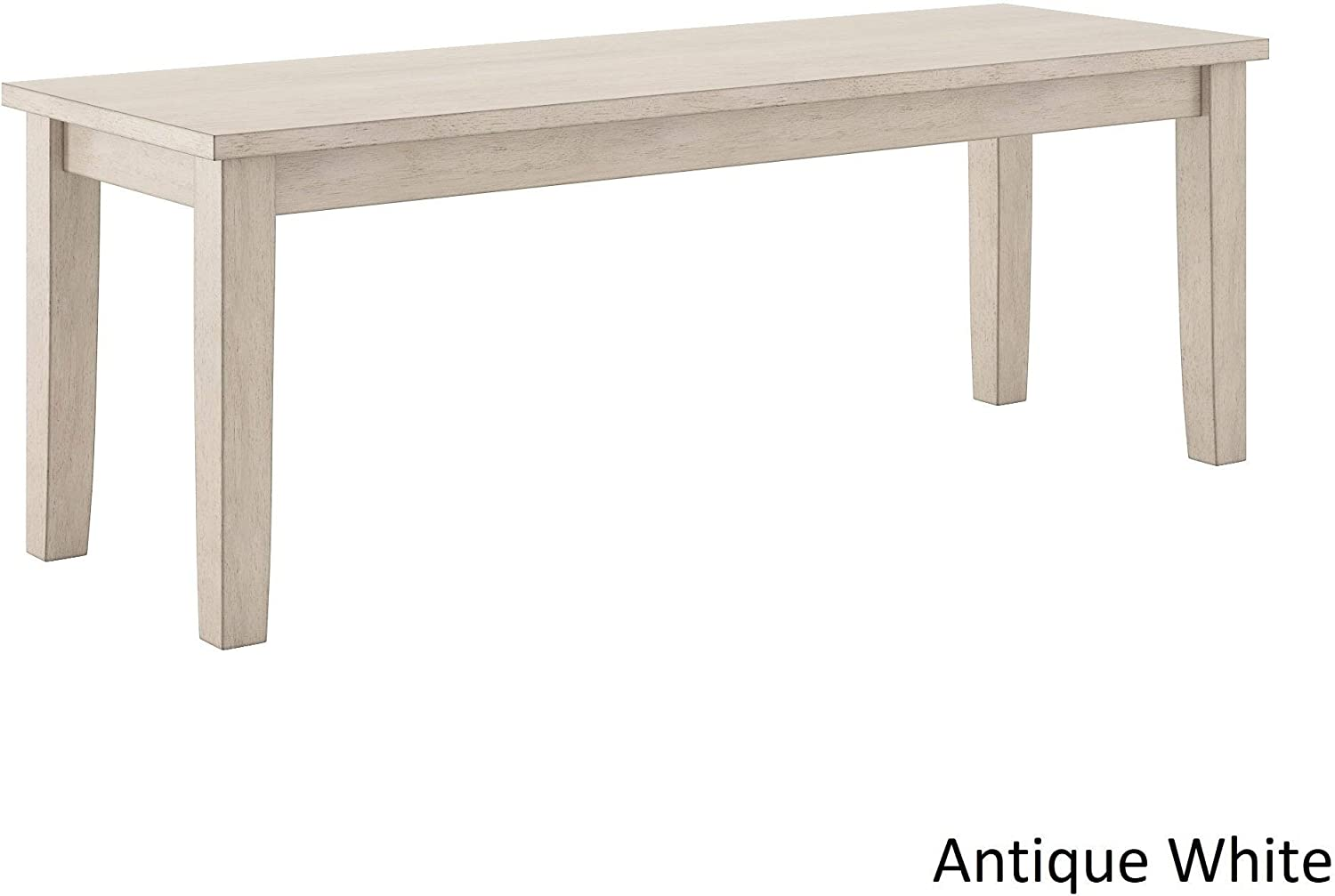 Inspire Q Wilmington II Wood Dining Bench by Classic Antique White Antique