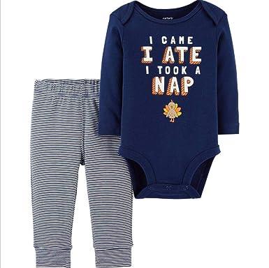2ce1f5e8c418 Amazon.com  Carter s Baby 2-Piece Thanksgiving Bodysuit Pant Set ...