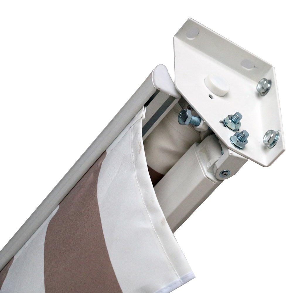 HENGMEI Aluminium Aluminium Aluminium Markise Klemmmarkise Balkonmarkise Sonnenschutz Kassettenmarkise Gelenkarmmarkise Sonnensegel (300  250cm, Dunkelgrau) 3193b0