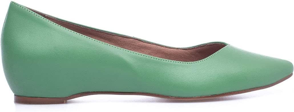 Urban CUÑA – Manoletina con cuña Interna Verde: Amazon.es: Zapatos y complementos