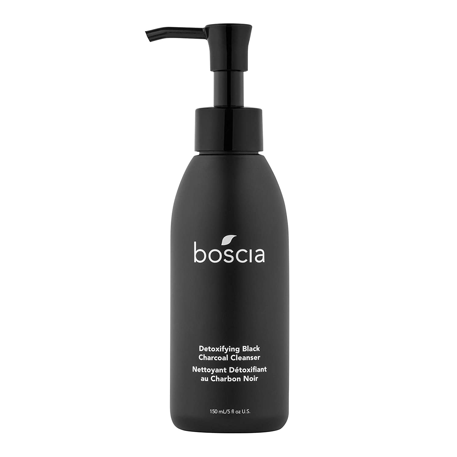 boscia Detoxifying Black Charcoal Cleanser - Activated Charcoal and Vitamin C Warming Gel Face Cleanser