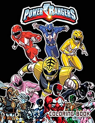 Power Rangers Coloring Book 40 Coloring Pages By Liwer John Amazon Ae