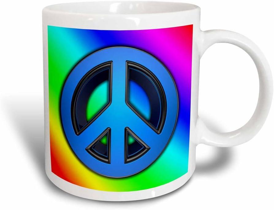 3drose Peace Sign Over Rainbow Background Love Magic Transforming Mug Ceramic White 10 16 X 7 62 X 9 52 Cm Amazon Co Uk Kitchen Home