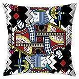 WQBZL Fashion Sofa Decorative Throw Pillow Poker King Deluxe Home Pillows 18'' X 18'' (containing Pillow Core)