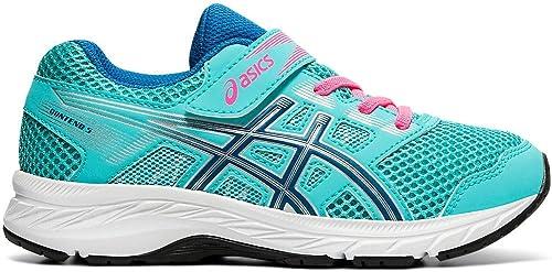ASICS Kids Contend 5 PS Running Shoes, K10M, ICE Mint/DEEP ...
