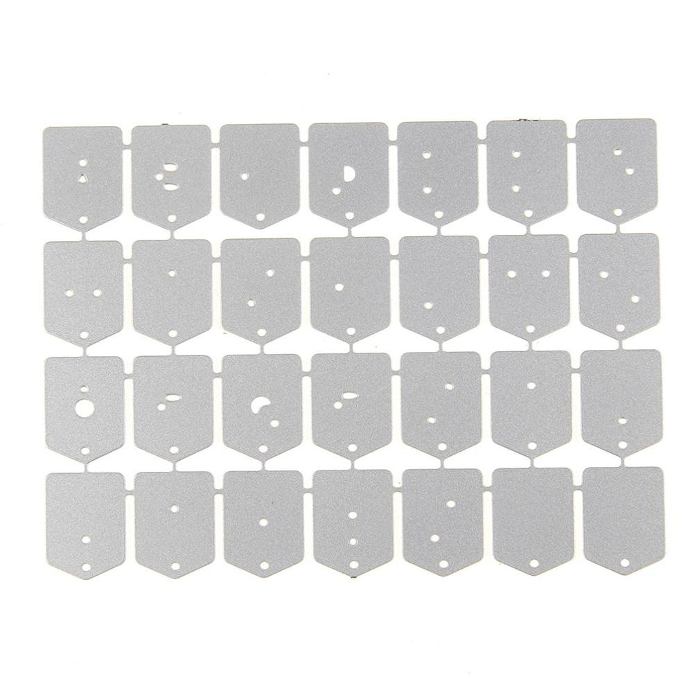 P:214x88mm 93x47mm Cutting Dies,Pollyhb Metal Cutting Dies Stencils Scrapbooking Embossing DIY Crafts,26 Letters Book Rectangle Round Pig Star Seahorse Monkey Bird,for Card Making Scrapbooking