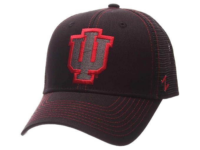 innovative design 15b6b 7f51f Amazon.com   Indiana Hoosiers Zephyr Black Mesh Blackout Trucker Adjustable  Snapback Hat Cap   Sports   Outdoors