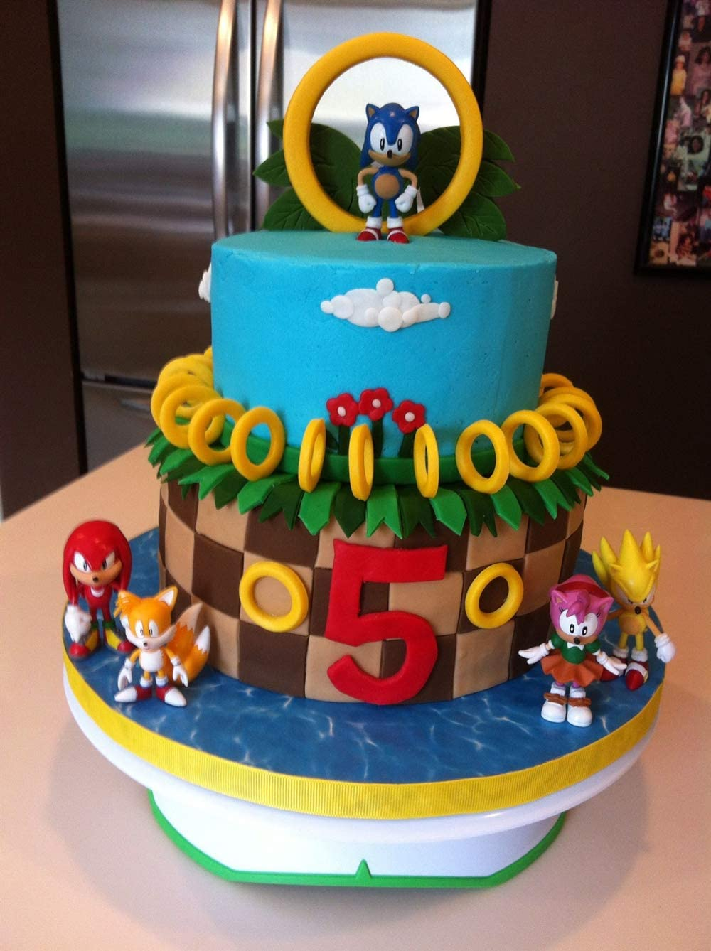 Sonic The Hedgehog Series Figures Toys Great for Play or Collecting and Cake Decoration 6pcs Kids Birthday Cake Toppers