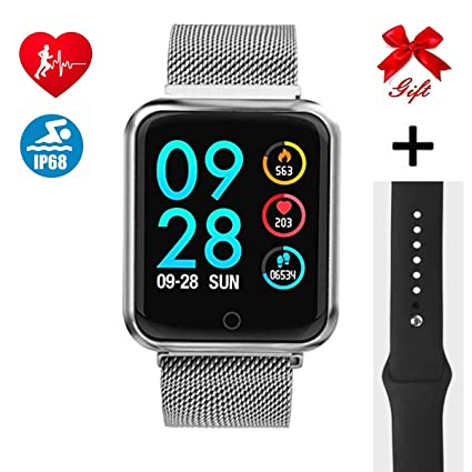 Montre Connectée, Bluetooth Smartwatch IP68 Imperméable Smart Watch pour Femme Homme Enfant Sports Moniteur de