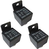 Auto relais, 3 stuks 12 V 80 A 5-polig auto relais sluiter omschakelrelais, wisselrelais vermogensrelais voor auto…