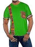 Makkrom Mens African Tribal Dashiki Floral Short