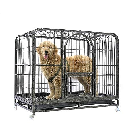 QNMM Caja De Metal Plegable para Perros Caja Alta para Perros Mascota De Una Sola Puerta