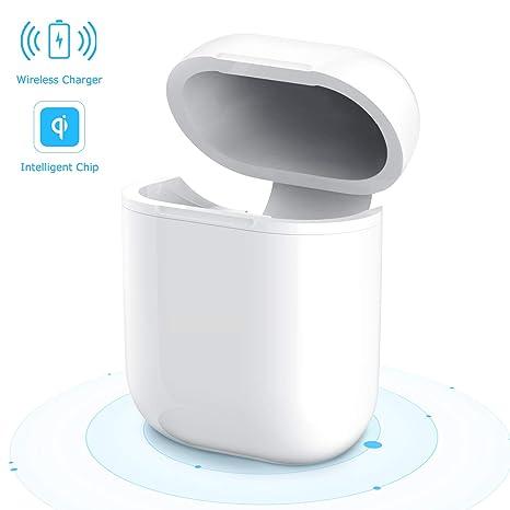 Estuche AirPods para Chareger Inalámbrico, Maxcio Cubierta Protectora de Carga Inalámbrica para Auriculares Bluetooth AirPods