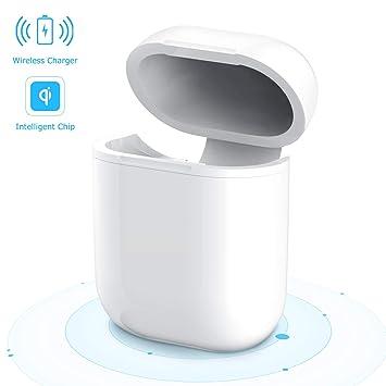 Estuche AirPods para Chareger Inalámbrico, Maxcio Cubierta Protectora de Carga Inalámbrica para Auriculares Bluetooth AirPods de Apple, Compatible con Todos ...