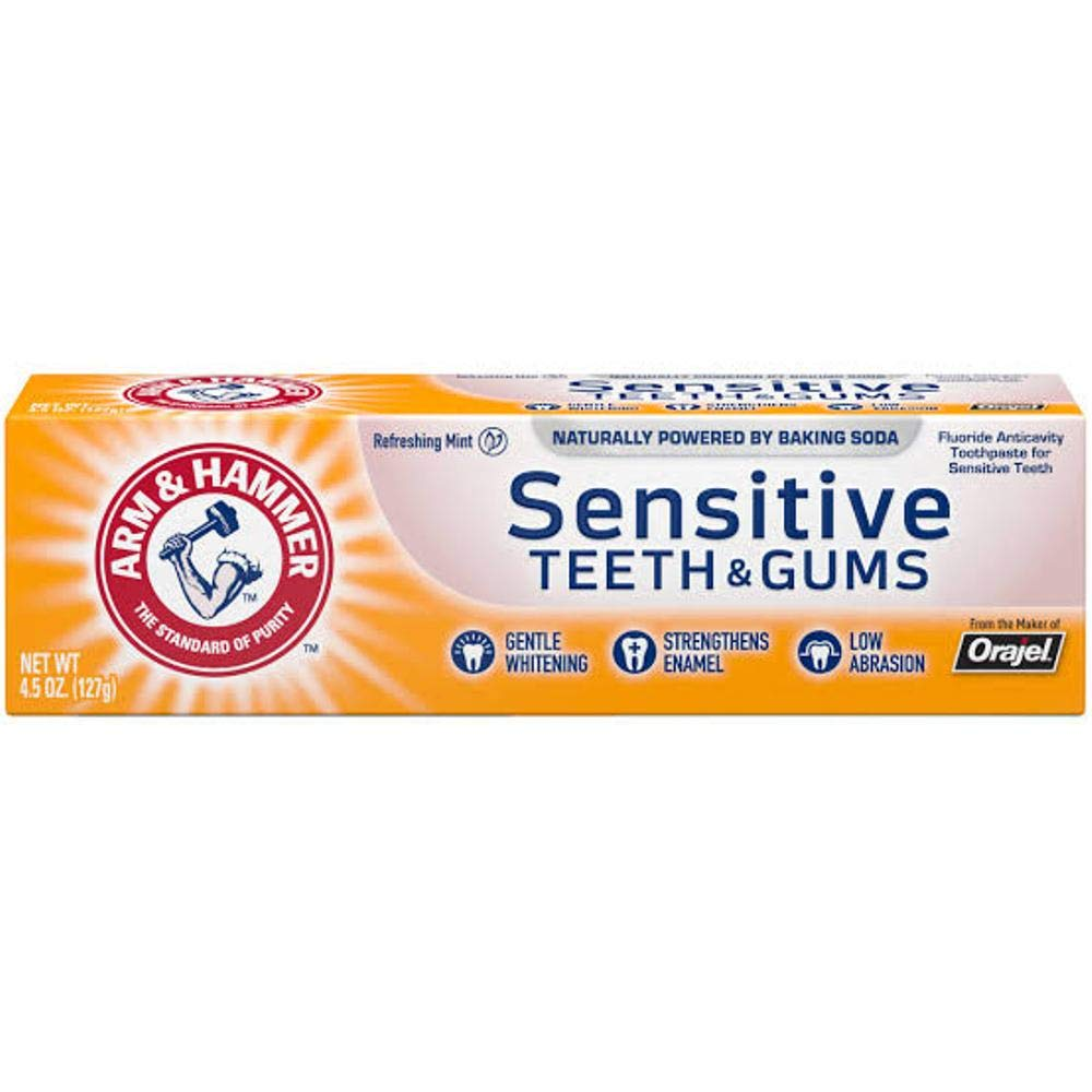 ARM & HAMMER Sensitive Teeth & Gums Toothpaste 4.5 oz (Pack of 3)