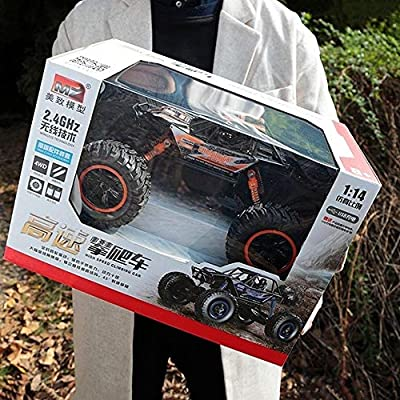PETRLOY 1:14 4wd RC Monster Truck High Speed Remote Control Toys Car Radio Controlled Cars 2.4GHZ RC Racing Climbing Off-Road Gravel Grassland Vehicle for Children and Adults Xmas Gift: Toys & Games
