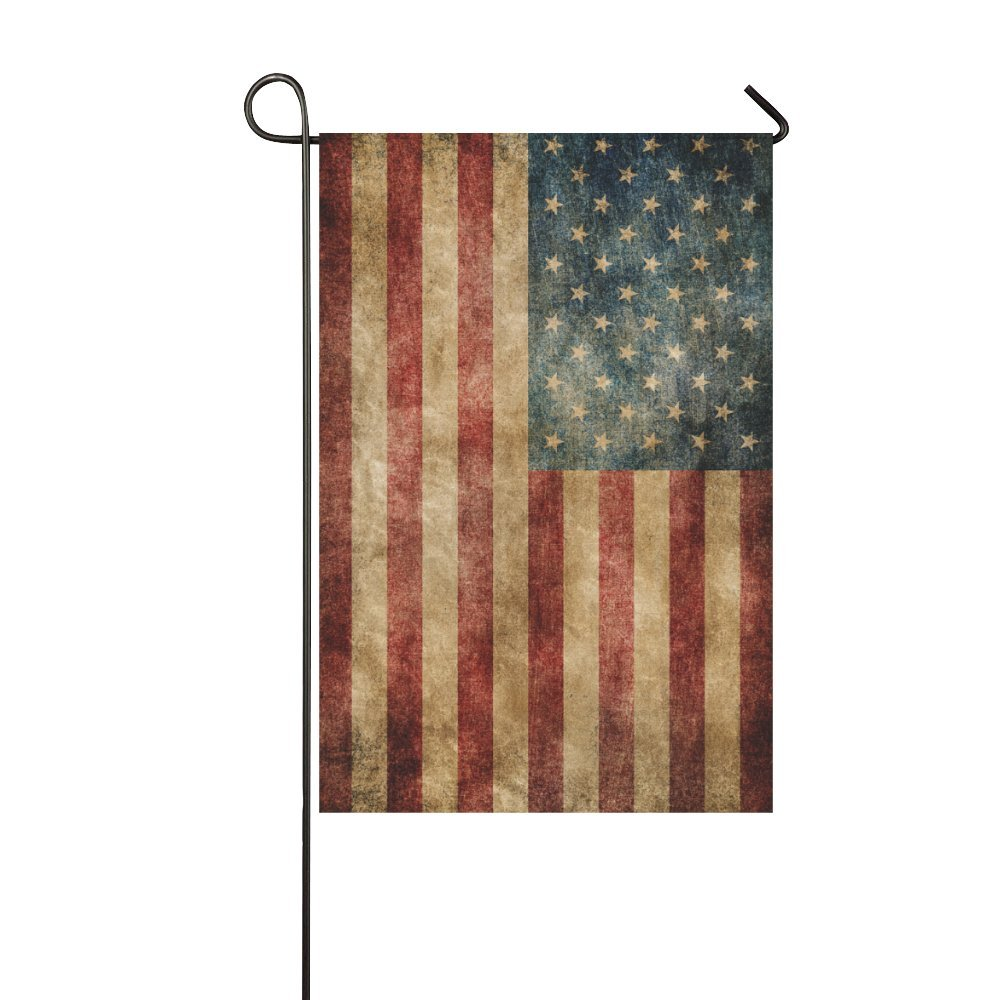 Amazon.com : InterestPrint Vintage American Flag Double Sided ...