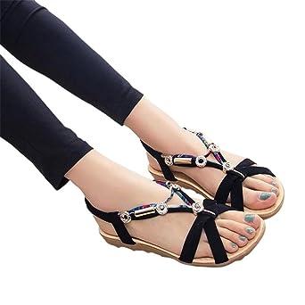 Été Nouveau Femmes Sandales Mode Chaussures Compensées dames blanches sexy Slipper en cuir,bleu,37