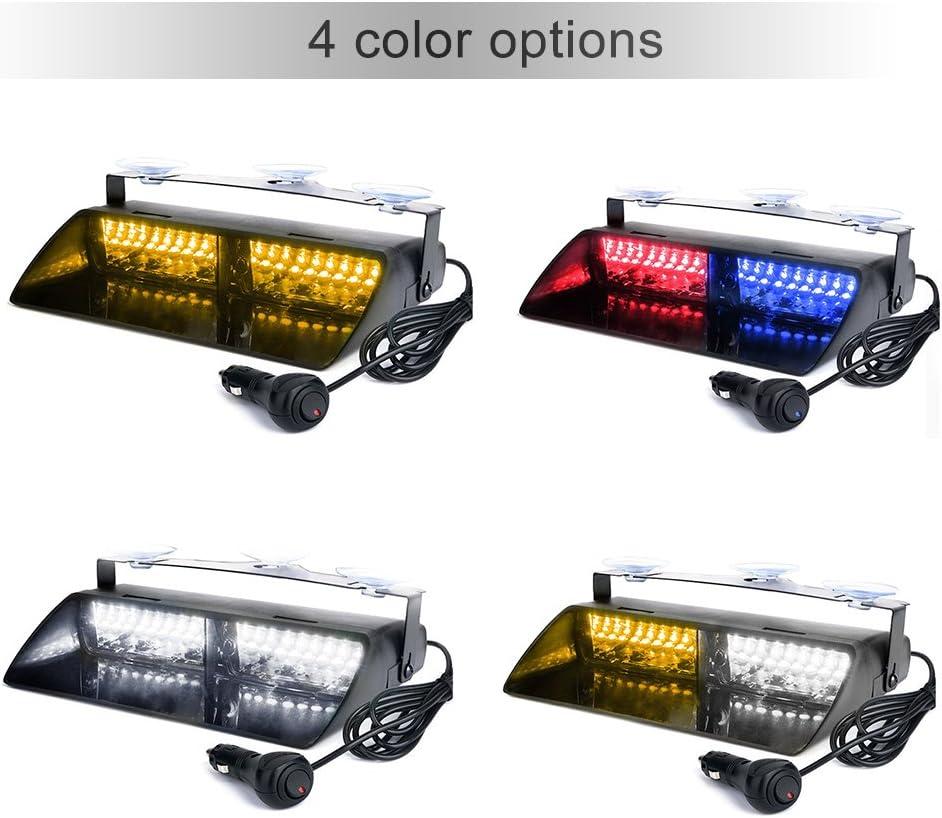 16LEDs 18 modos de destello Coche Truck Emergency Flash Dash estrobosc/ópico Luz amarilla