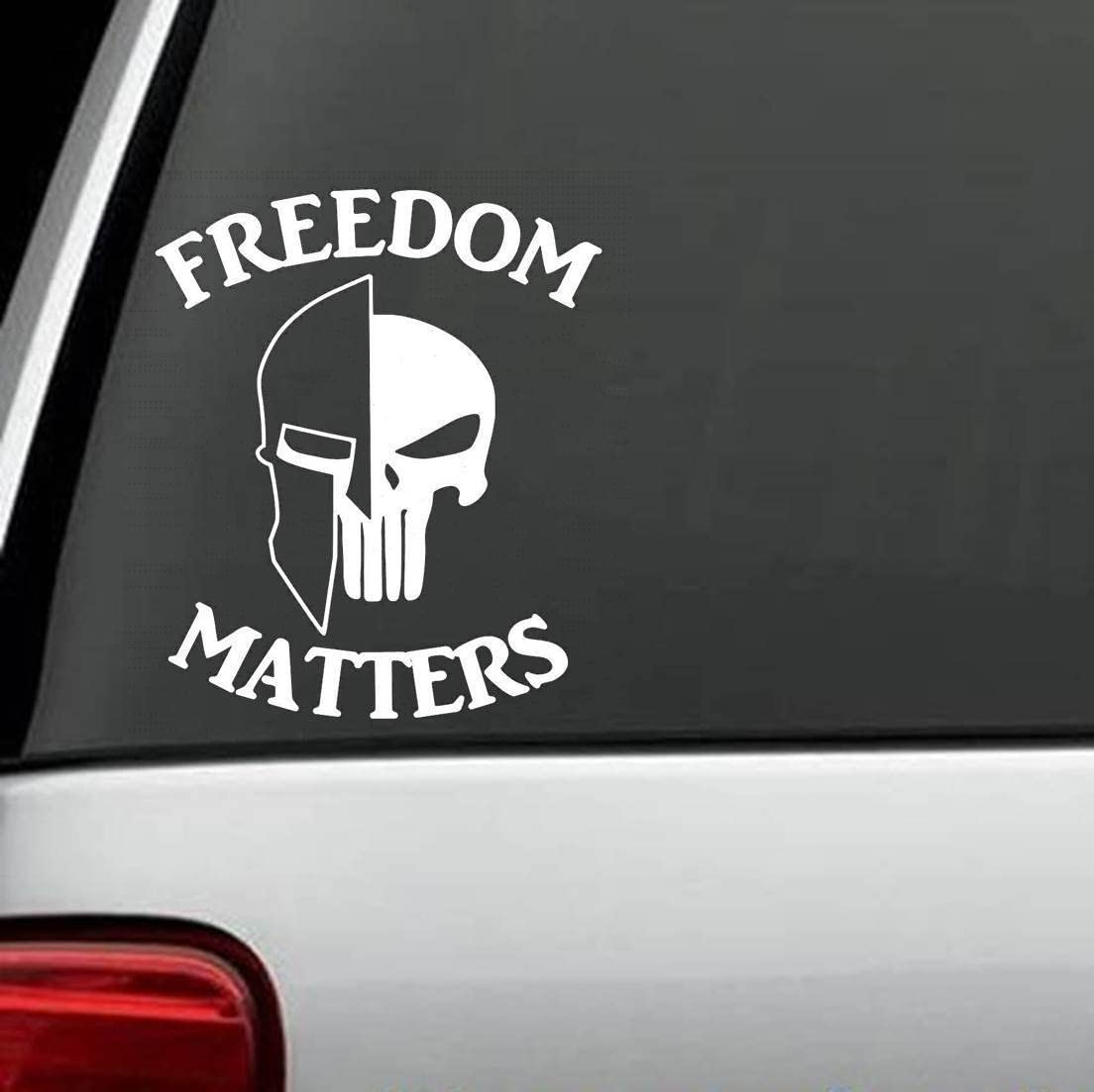 C1104 Freedom Matters Molon Labe Helmet Skull Decal Sticker ...