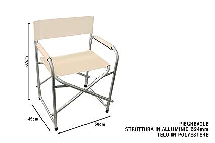 Sedia Regista Pieghevole Alluminio.Sedia Regista Pieghevole Con Telaio In Alluminio Cm