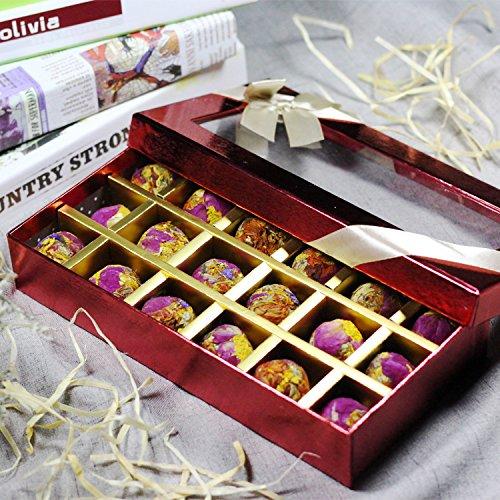 Aseus Pearl tea combined 9 taste 18 grains of gift boxes Yunnan Pu'er tea rose Jasmine chrysanthemum grass bouquet process by Aseus-Ltd