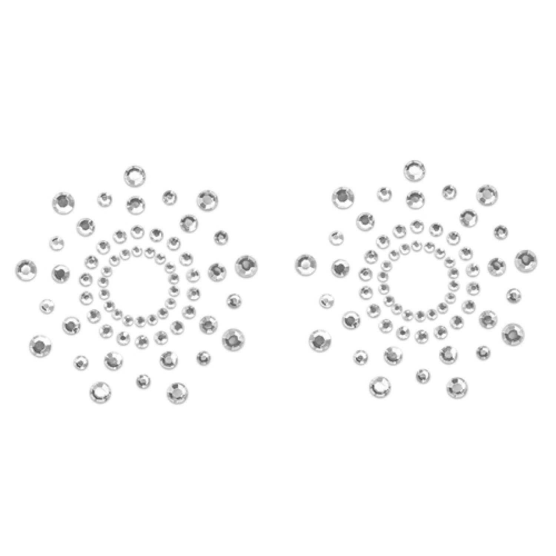 Nippelsticker Nippelhütchen Nippelaufkleber (Mimi) Silber Bijoux Indiscrets (2 Stück)