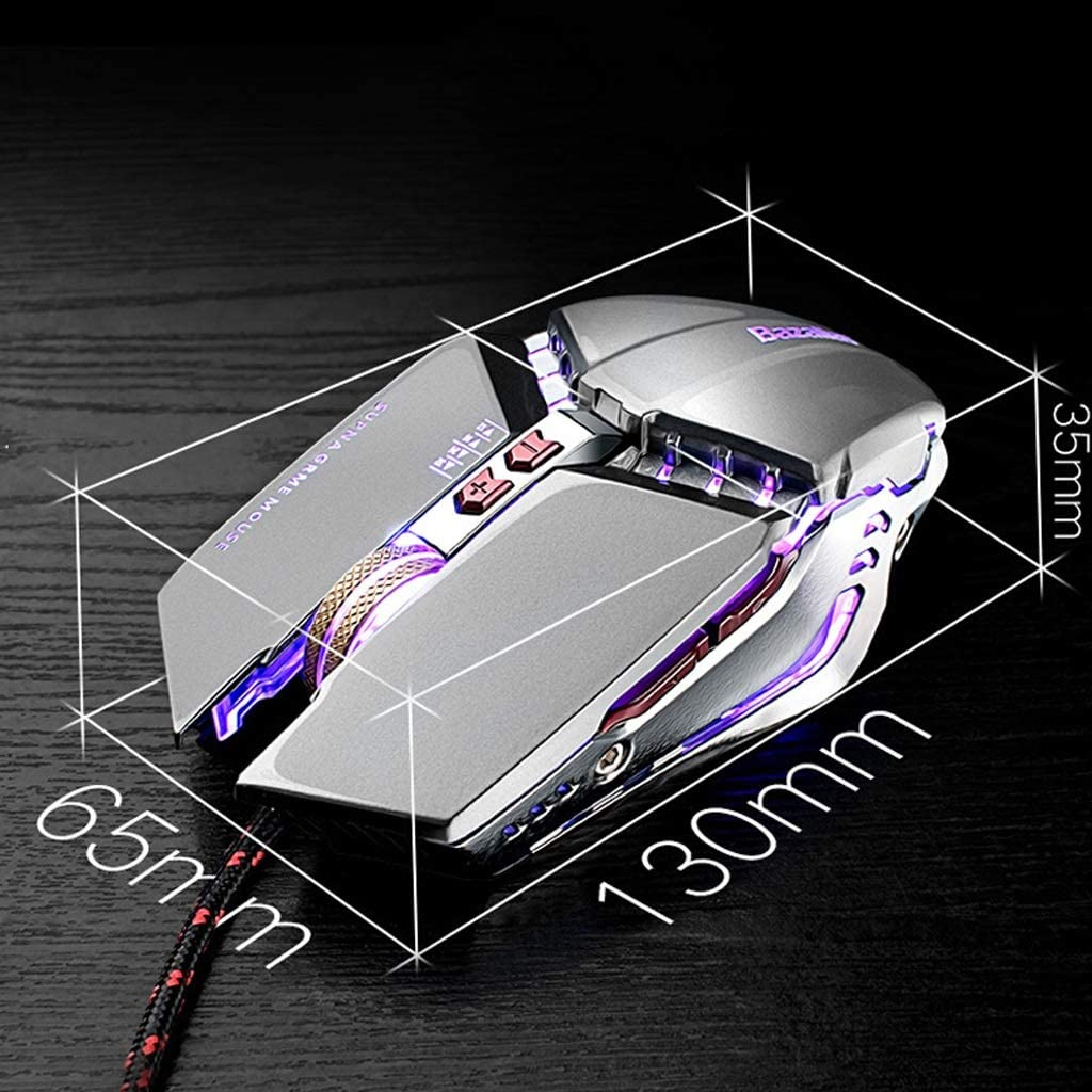 Programming Mouse Color : Programming Mouse Esports Game Wired Notebook One-Hand Mechanical Keypad Set Mobile Phone Bluetooth Peripherals Mobile Game Keyboard Game Keyboard Rainbow