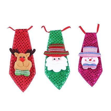Artibetter Corbata de Navidad con Corbata de Lentejuelas de 3 ...
