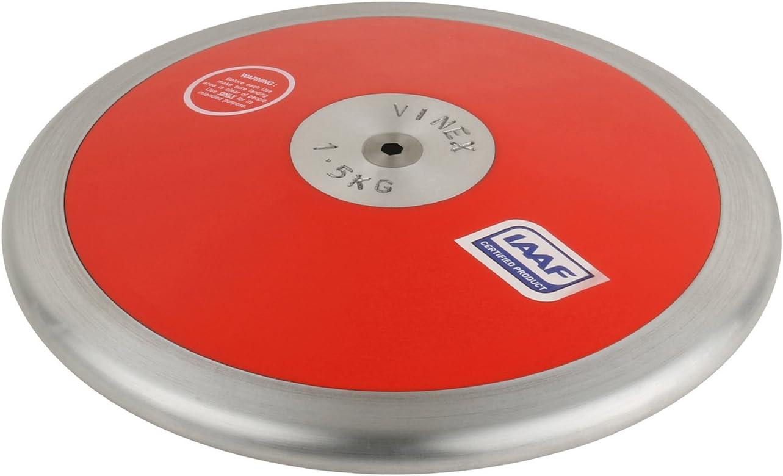 Vinex High Spin 1,00 kg 1,25 kg 1,50 kg 1,75 kg 2,00 kg Disque /à Lancer Rouge