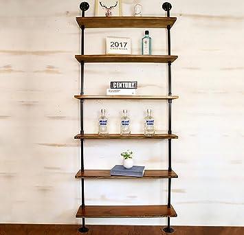 Wandregal Massivholz Wandregal Eisen Metall Wasserrohr Regale Wandbehang Für  Wohnzimmer Als Bücherregal Lagerregal Wandhalterung Ablage (