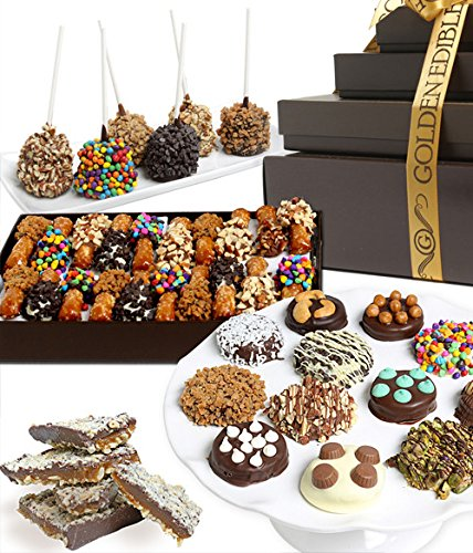 Deluxe Gourmet Belgian Chocolate Covered Sweets Gift Tower