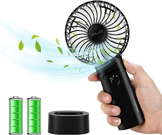 ELZO Mini Ventilador de Mano, Silencioso Mini Ventilador Portátil ...