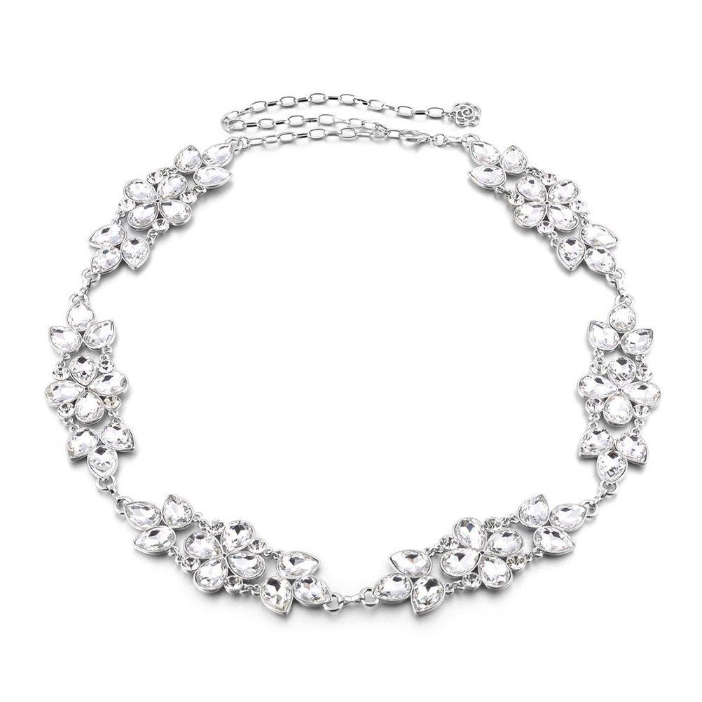 LUOEM Vita catena donne strass metallo vita catena cintura Diamante vestito Decor ND160755SII985397