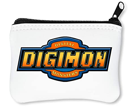 Digimon Logo Billetera con Cremallera Monedero Caratera ...