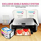 Icinginks Edible Printer Art Package - Comes With Edible Printer, Edible Cartridges, Wafer Paper, Frosting Sheets, Set of 6 Fine Tip Edible Markers - Best Cake Image Printer, Canon Edible Printer