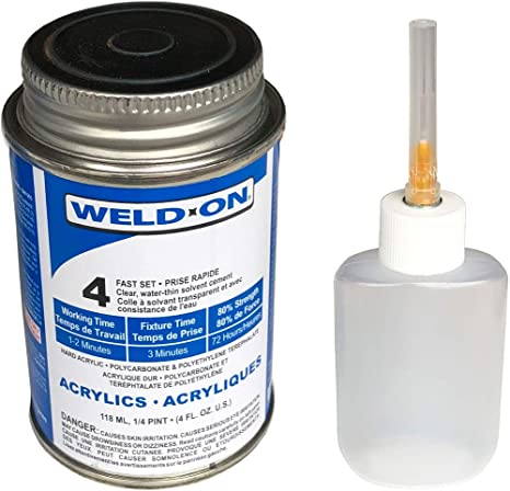 Weld-On 4 Acrylic Adhesive - 4 Oz and Weld-On Applicator Bottle with Needle: Contact Cements: Amazon.com: Industrial & Scientific
