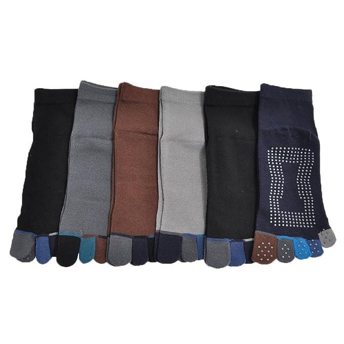 Amazon.com : Espada Menswear 6-Pair-Pack Yoga/Pilates Full ...