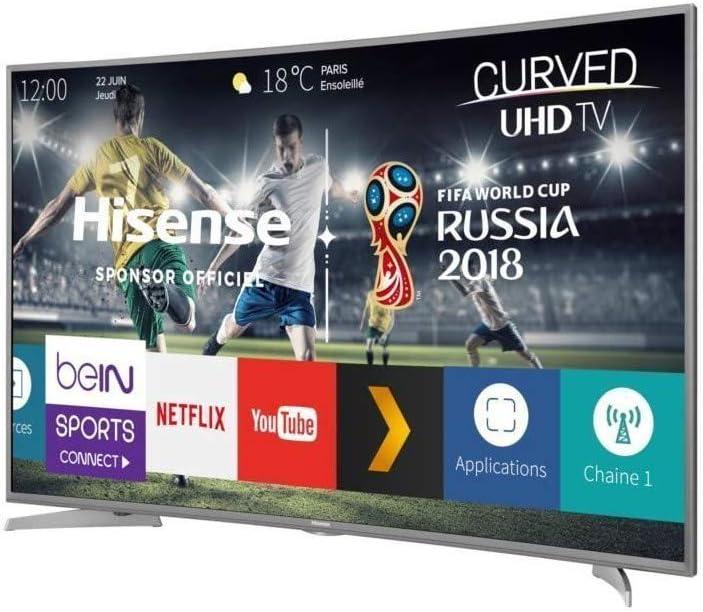 Hisense – h49 N6600 – TV LED – UHD incurvée – 49 (123 CM) – Smart TV – 4 x HDMI – Clase energética A: Amazon.es: Coche y moto
