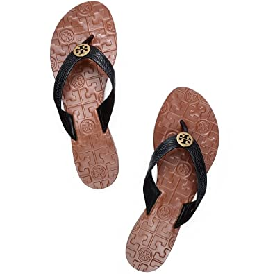 fcbbb1e671adcd Tory Burch Thora Flip Flops Saffiano Leather Thong Sandals (8