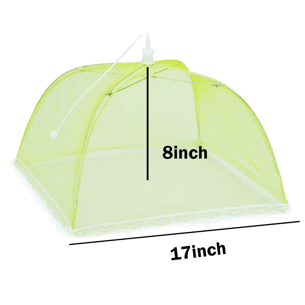 Hisoul Food Cover Tents - Collapsible and Washable Pop Up Mesh Screen Food Cover Tents Picnic BBQ Plate Umbrella Protector - Food Protector Tent Keep Out Flies, Bugs, Mosquitoes (Random) by Hisoul (Image #8)