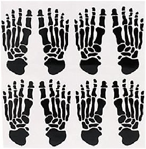 SKELETON FOOTPRINT WINDOW CLINGS Prints