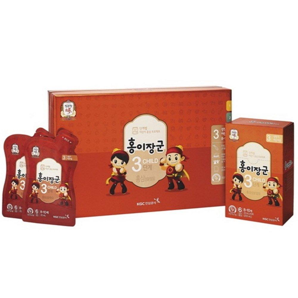 Cheong Kwanjang By Korea Ginseng Corporation Korean Red Ginseng ''HONGEJANGGUN'' Tonic for kids LEVEL 3 (8~10 years old) All New Version by Cheong Kwan Jang (Image #1)