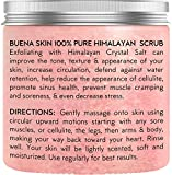 Himalayan Salt Body Scrub by Buena Skin   100% Natural Deep Cleansing Exfoliator With Sweet Almond Oil And Lychee Oil Promoting Radiant Skin 12 oz