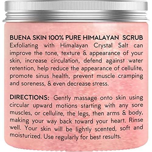 Body Scrub Himalayan Salt - 100% Natural Deep Cleansing Exfoliator