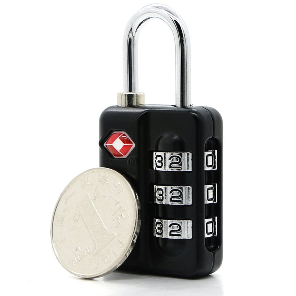 TSA Luggage Locks (4Pack) -Combination Padlocks - Approved Travel Lock for Suitcases & Baggage by Zhovee (Image #2)